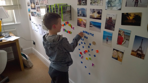 Magnetic Plaster Finished Wall